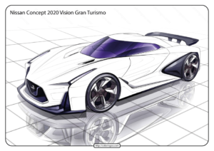 Printable Nissan Vision Gran Turismo Coloring Page