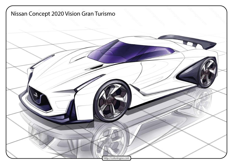 Printable Nissan Vision Gran Turismo Coloring Page