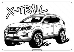 Free Printable Nissan X-Trail Pdf Coloring Page