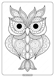 Free Printable Owl Animal Pdf Coloring Page