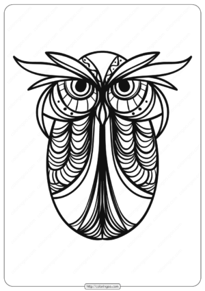 Free Printable Owl Animal Coloring Page - 007