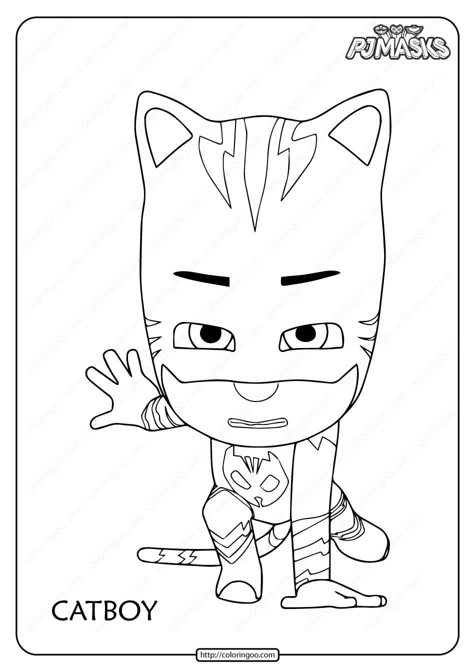 Free Printable PJ Masks Catboy Coloring Pages