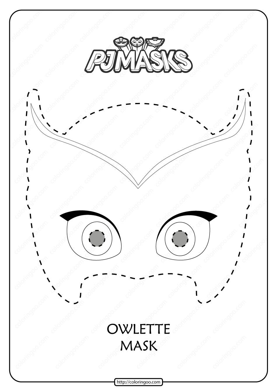 Free Printable Owlette PJ Masks Coloring Page