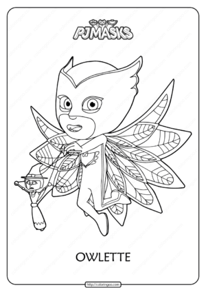 Free Printable PJ Masks Owlette Coloring Pages