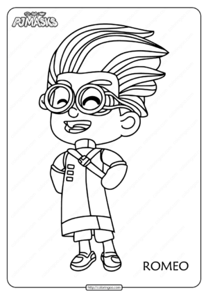 Free Printable PJ Masks Romeo Coloring Pages