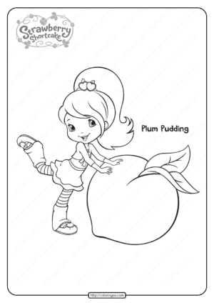 Free Printable Plum Pudding Coloring Pages