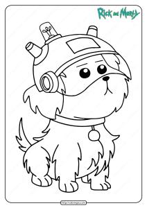 Free Printable Snuffles Snowball Pdf Coloring Page