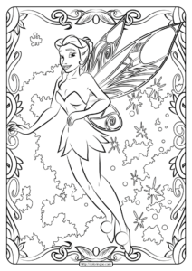 Free Printable Tinker Belle Pdf Coloring Page