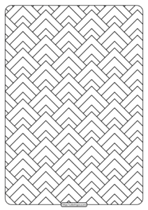Free Printable Triangular Shapes Pdf Coloring Page
