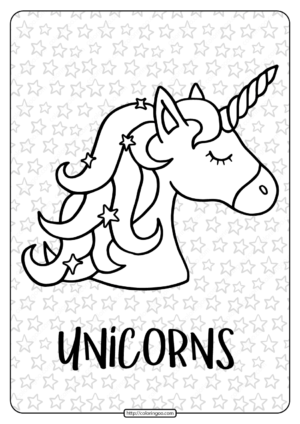 Free Printable Unicorns Are Real Pdf Coloring Page