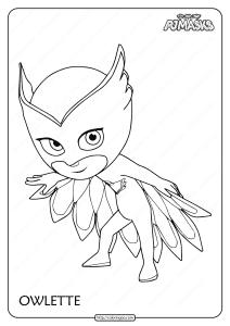 Printable PJ Masks Owlette Pdf Coloring Page