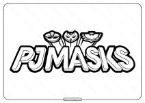 Printable Pj Masks Logo Black and White Pdf Outline