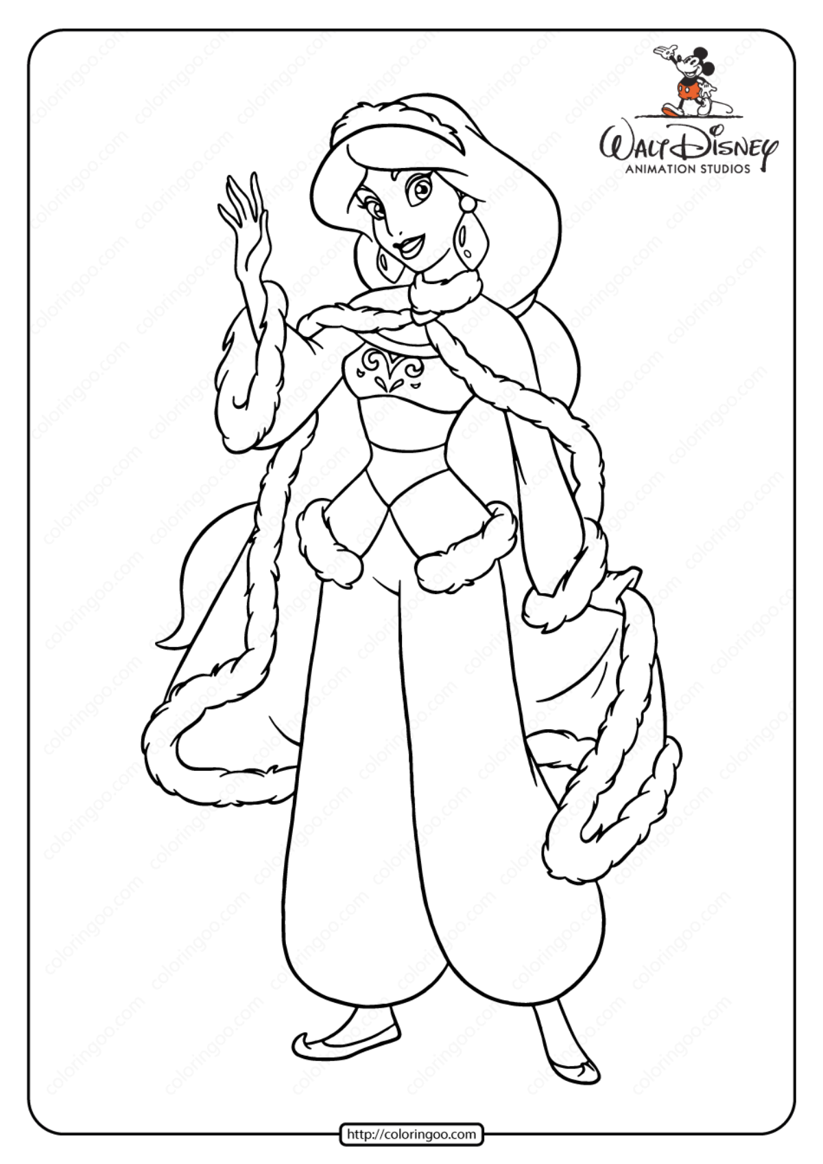 Princess Jasmine Coloring Pages Pictures - Whitesbelfast   1697x1200