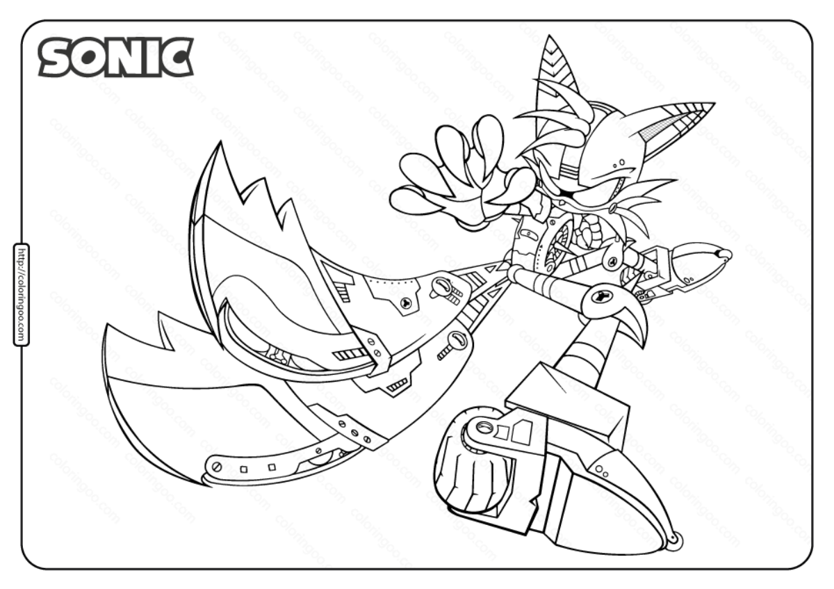 Printable Sonic Miles Tails Prower Coloring