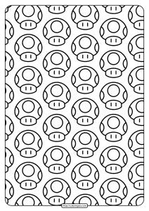 Printable Super Mario Mushroom Pdf Pattern