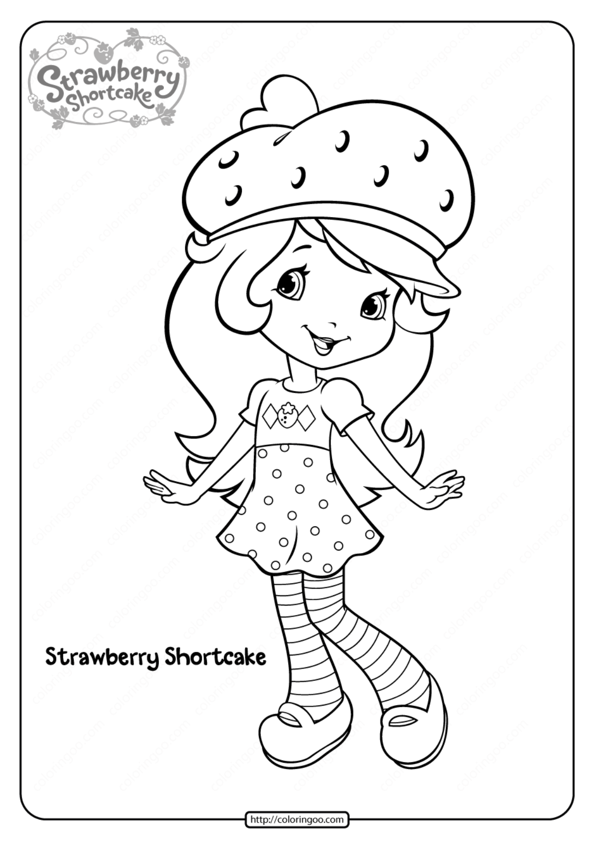 Strawberry Shortcake Printable Coloring Page | Mama Likes This | 1697x1200