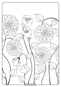 Free Printable Flower Pattern Coloring Page 05