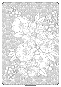 Free Printable Flower Pattern Coloring Page 10