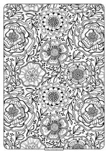 Free Printable Flower Pattern Coloring Page 14