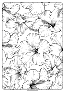 Free Printable Flower Pattern Coloring Page 21
