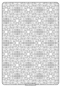 Free Printable Mandala Pattern Coloring Page 37