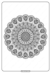 Free Printable Mandala Pattern Coloring Page 39
