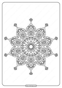Free Printable Mandala Pattern Coloring Page 41