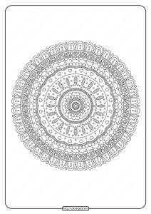 Free Printable Mandala Pattern Coloring Page 43