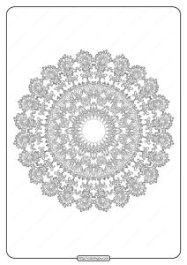 Free Printable Mandala Pattern Coloring Page 44
