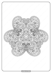 Free Printable Mandala Pattern Coloring Page 45