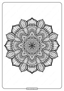 Free Printable Mandala Pattern Coloring Page 46
