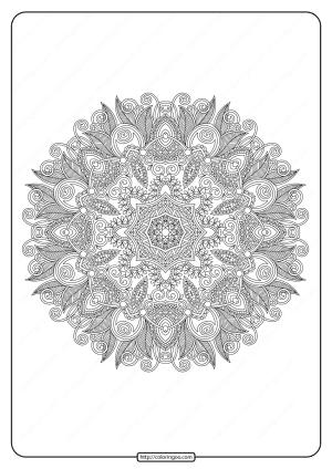 Free Printable Mandala Pattern Coloring Page 48