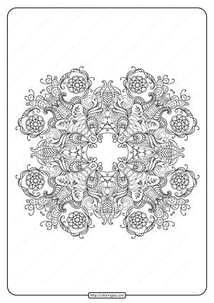 Free Printable Mandala Pattern Coloring Page 51