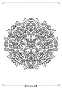 Free Printable Mandala Pattern Coloring Page 52