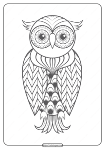 Free Printable Owl Pdf Animals Coloring Pages 010