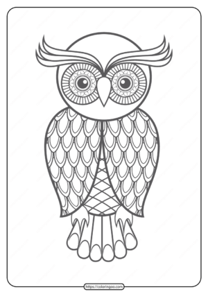 Free Printable Owl Pdf Animals Coloring Pages 011