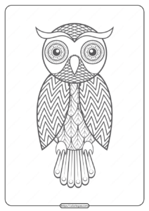 Free Printable Owl Pdf Animals Coloring Pages 014
