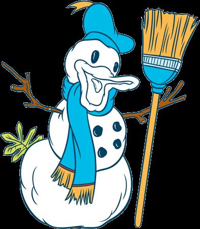 Donald Duck a Snowman