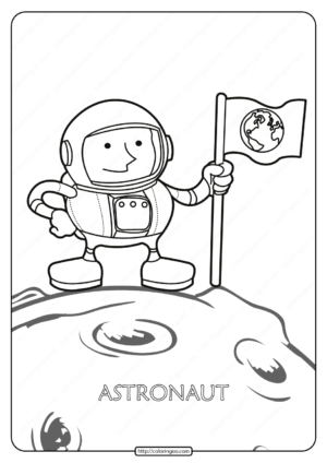 Free Printable Astronaut Pdf Coloring Page
