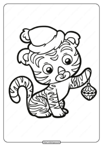 Free Printable Baby Tiger Pdf Coloring Page