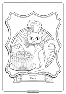 Free Printable Baking Cat Pdf Coloring Page