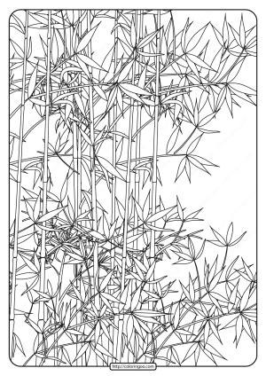 Free Printable Bamboo Garden Pdf Coloring Page