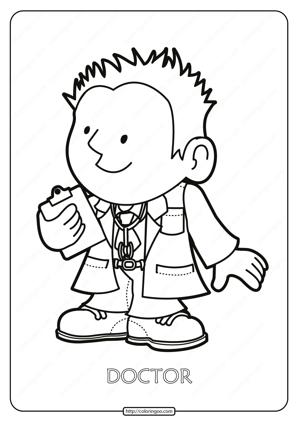 Free Printable Doctor Pdf Coloring Page