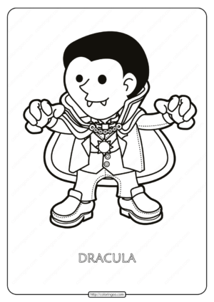 Free Printable Dracula Pdf Coloring Page