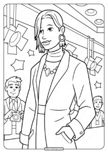 Free Printable Fashion Model Pdf Coloring Page