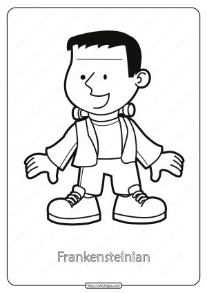 Free Printable Frankensteinian Pdf Coloring Page