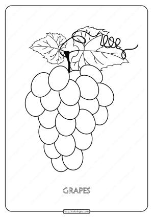 Free Printable Grapes Pdf Coloring Page