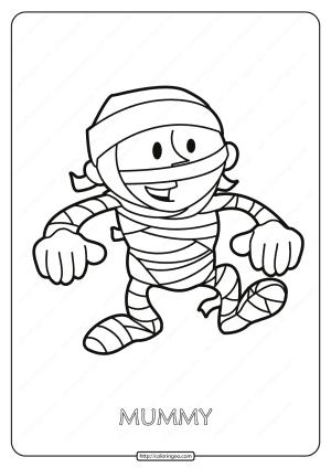 Free Printable Mummy Pdf Coloring Page