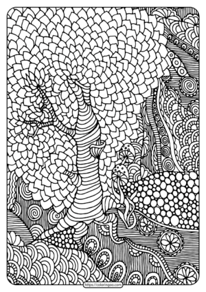 Free Printable Rainforest Pdf Coloring Page
