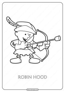 Free Printable Robin Hood Pdf Coloring Page